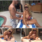Amber Lynn Bach – My Pool side handjob by mother