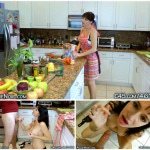Angie Noir – Mom Son BJ Seduction In The Kitchen
