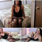 Diane Andrews – Mother in sexy lingerie show her son how to jerk off