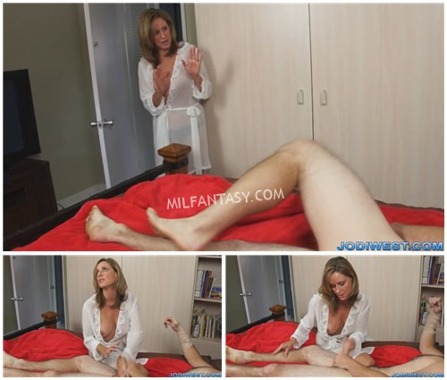 Jodi West - Son Needs Help Jerking Off