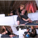 Julia Ann – Stepmom catches you jerking off in the living room