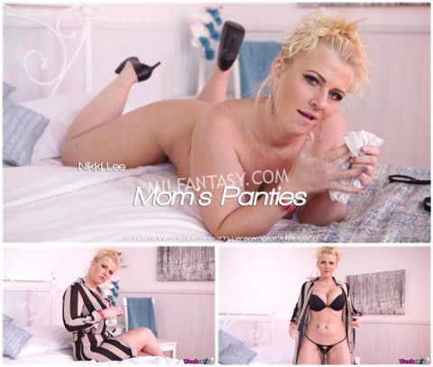Nikki Lee - Milf catches son jerking off in her panties and forces him to wank until he cums - milfantasy.com