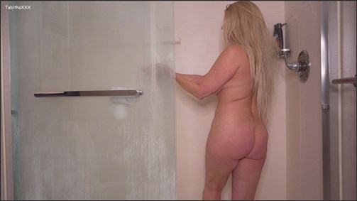 TabithaXXX - Slut Mom Son BJ Shower Video for Buddies